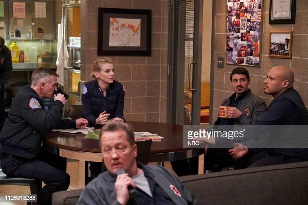 FIRE 'What I Saw' Episode 715 Pictured David Eigenberg as Christopher Herrmann Kara Killmer as Sylvie Brett Yuri Sardarov as Brian 'Otis' Zvonecek...