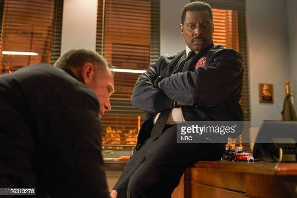 FIRE What I Saw Episode 715 Pictured Jason Beghe as Hank Voight Eamonn Walker as Wallace Boden