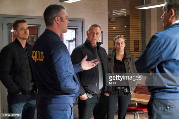 FIRE What I Saw Episode 715 Pictured Jesse Lee Soffer as Jay Halstead Taylor Kinney as Kelly Severide Jason Beghe as Hank Voight Tracy Spiridakos as...