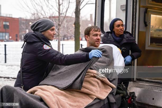 FIRE 'What I Saw' Episode 715 Pictured Kara Killmer as Sylvie Brett Sean Kleier as Keith Annie Ilonzeh as Emily Foster