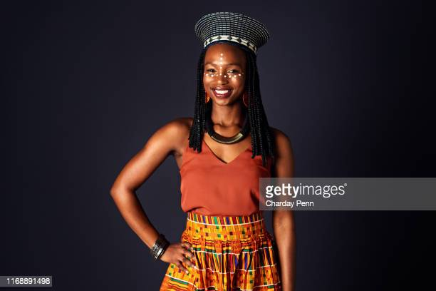 what i wear is part of where i come from - zulu women stock pictures, royalty-free photos & images