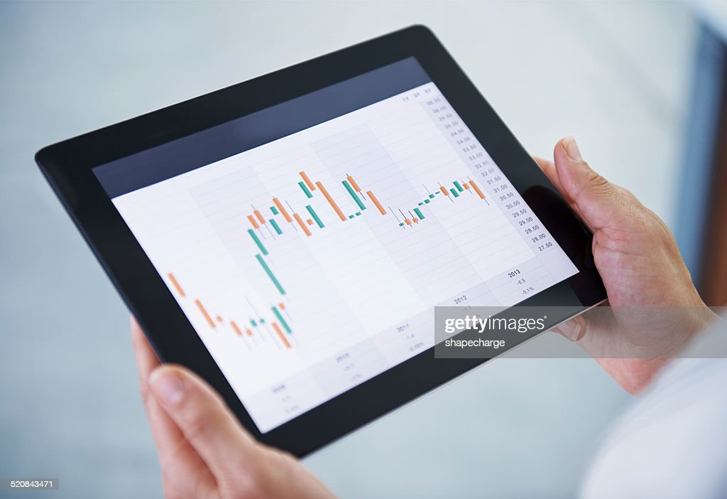 What is our stock doing today? : Stock Photo
