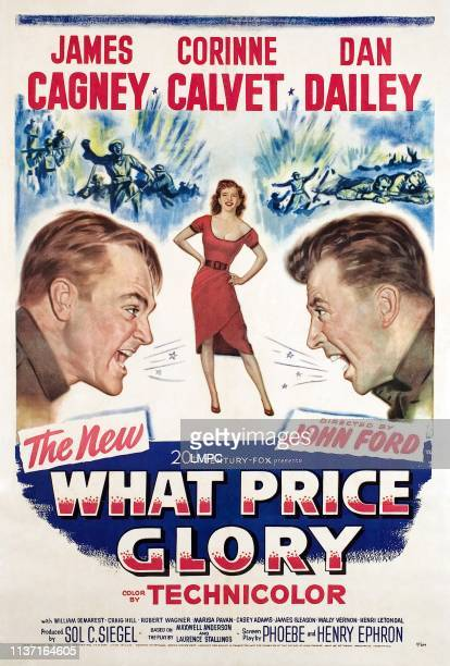 What Price Glory poster James Cagney Corinne Calvet Dan Dailey 1952