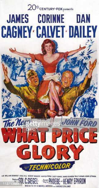 What Price Glory poster US poster art from left James Cagney Corinne Calvet Dan Dailey 1952