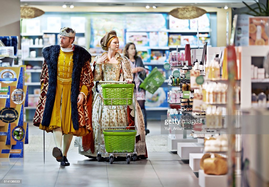What say ye to this brand, my lady? : Stock Photo