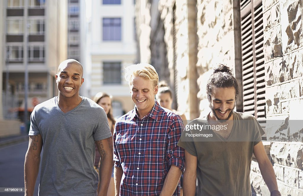 What should we do today, boys? : Stock Photo