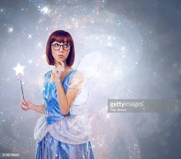 what wish should i grant next? - fairy stock photos and pictures