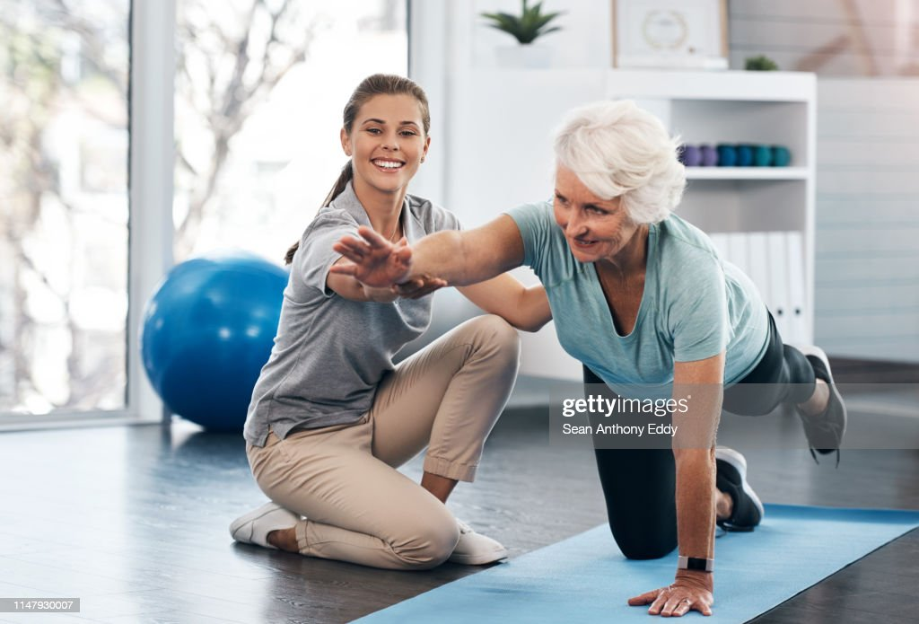 Whatever your age it's important to workout : Stock Photo