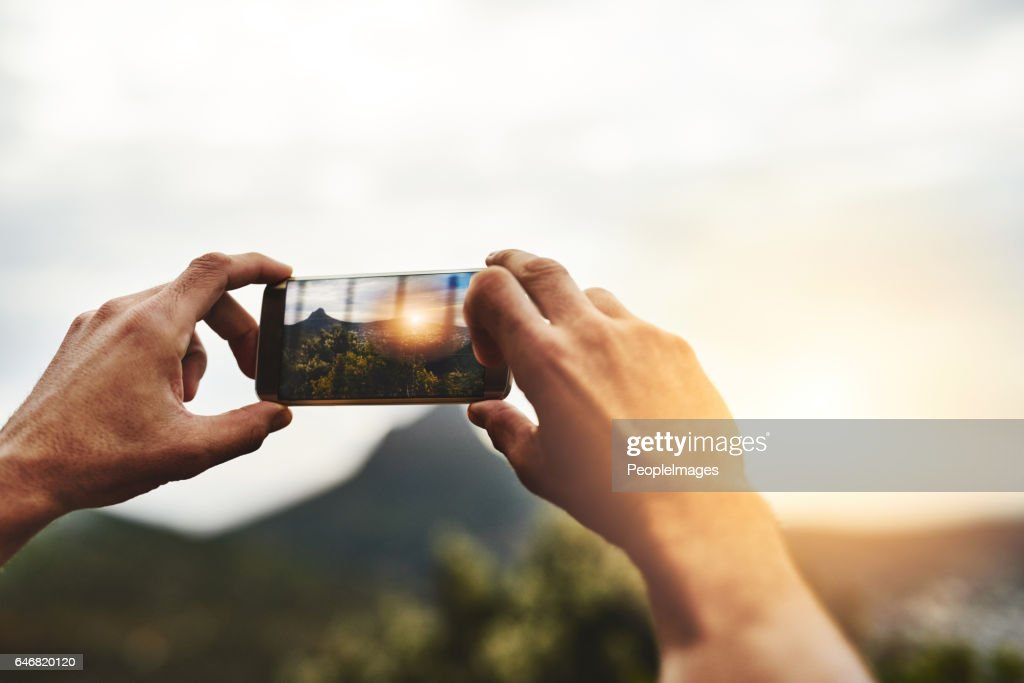 What's a getaway without the memories? : Stock Photo