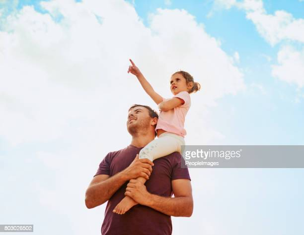 What's behind those clouds, daddy?