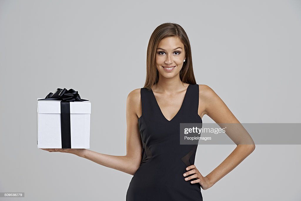 What's in the box? : Stock Photo