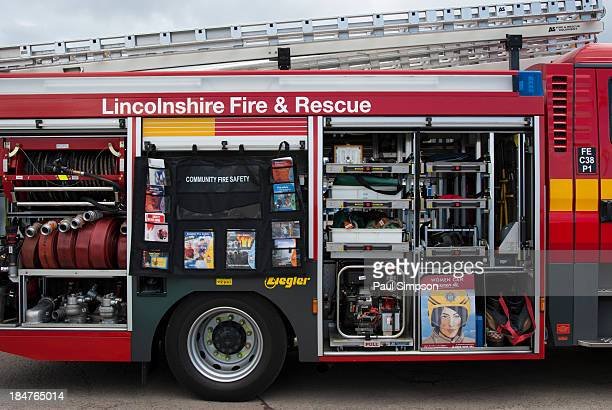 What's inside a fire engine? Here you can see some of the equipment used inside a Lincolnshire Fire and Rescue Service vehicle from the UK