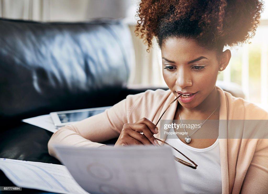 What's my financial progress looking like? : Stock Photo