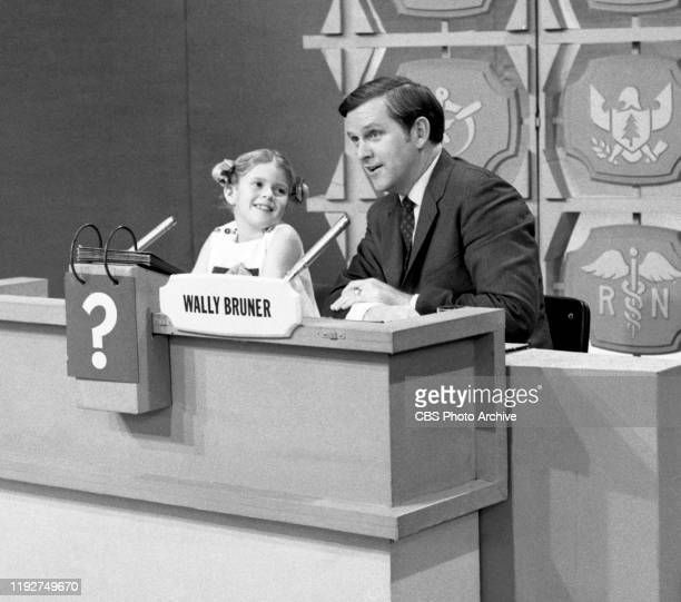 Whats My Line a CBS television game show Pictured from left is guest Anissa Jones and Wally Bruner Recorded on February 25 1969