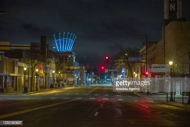 What's normally a busy street, due to a curfew that extends to most of the Twin Cities metro area, it sits empty with all the businesses closed as...