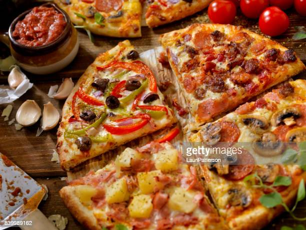 what's on your pizza? - hawaiian pizza stock pictures, royalty-free photos & images