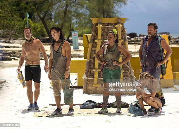 'What's the Beef' Andrew Savage Woo Hwang Tasha Fox AbiMaria Gomes and Jeff Varner during the fourth episode of SURVIVOR Wednesday Oct 14 The new...