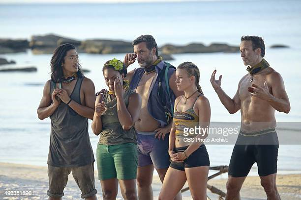 'What's the Beef' Woo Hwang Tasha Fox Jeff Varner AbiMaria Gomes and AbiMaria Gomes during the fourth episode of SURVIVOR Wednesday Oct 14 The new...