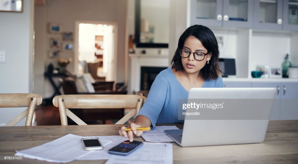 What's the budget looking like this month? : Stock Photo