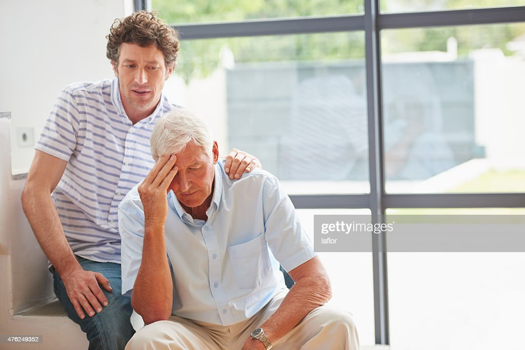 What's the matter, Dad? : Stock Photo