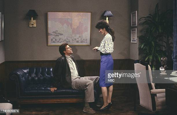CHEERS What's Up Doc Episode 18 Air Date Pictured Ted Danson as Sam Malone Madolyn Smith Osborne as Dr Sheila Rydell Photo by NBCU Photo Bank