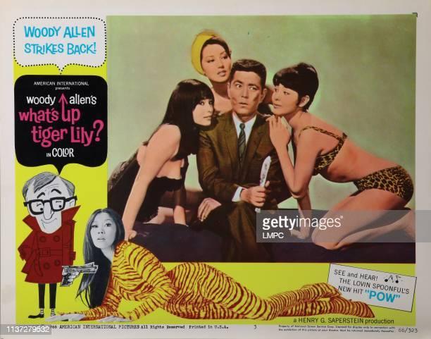 What's Up lobbycard TIGER LILY from left Akiko Wakabayashi Tatsuya Mihashi Mie Hama 1966