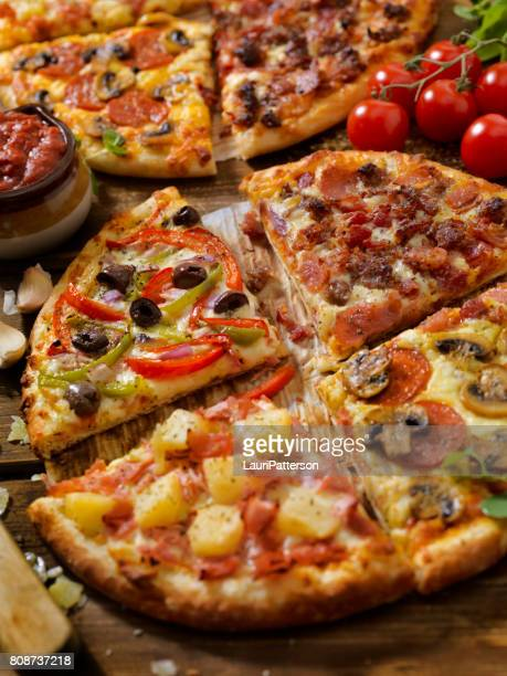 what's your favourite pizza topping - hawaiian pizza stock pictures, royalty-free photos & images