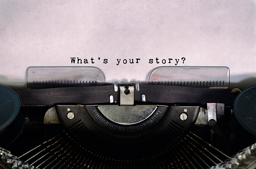 What's Your Story Typed on a Vintage Typewriter 840623040