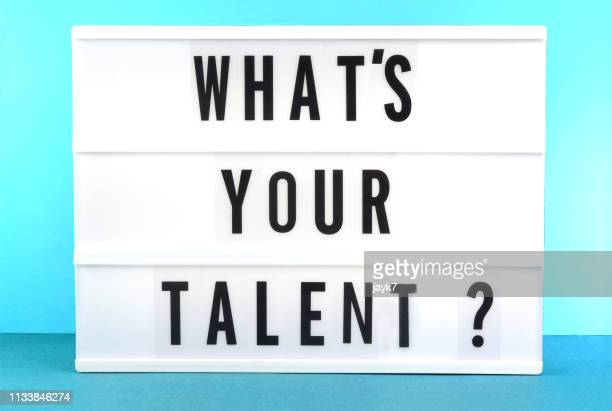what's your talent - lightbox stock photos and pictures