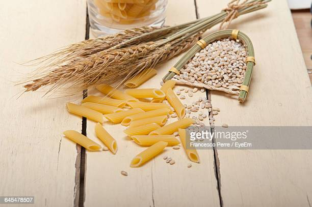 Wheat And Pasta On Table