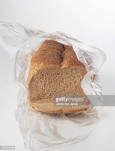 Wheat Bread in Plastic Bag