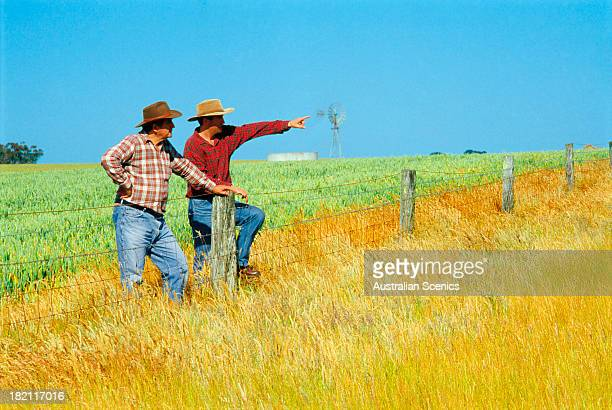 Wheat farmers at Beaufort, Victoria, Australia