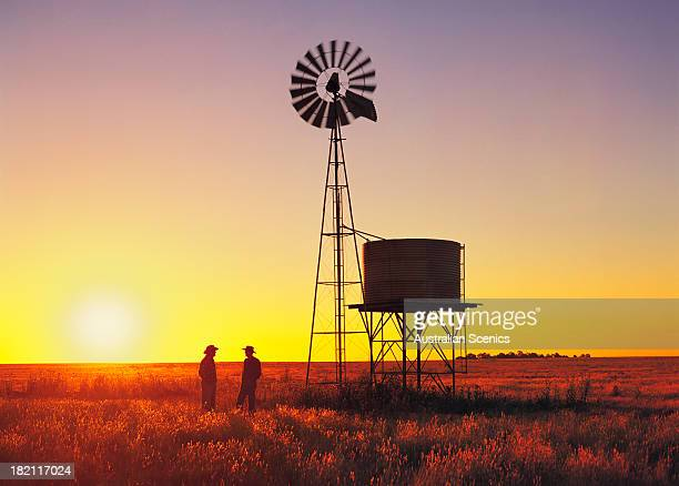 Wheat farmers at Beaufort, Victoria, Australia