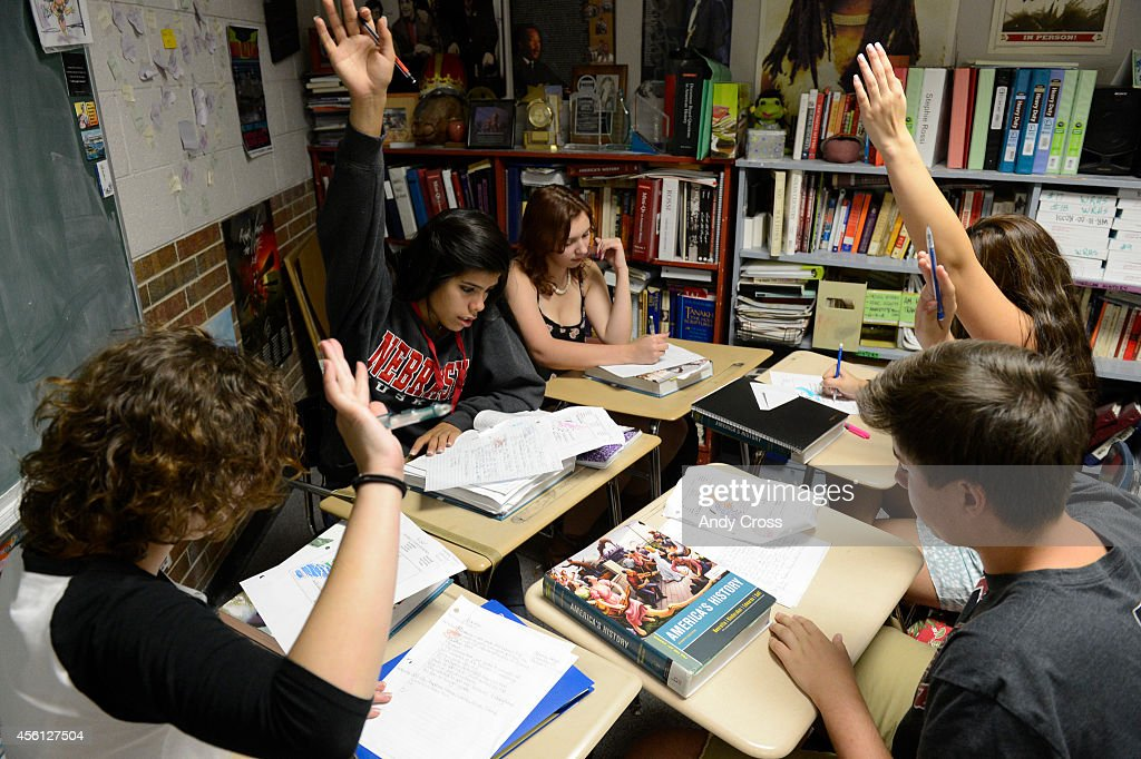Jeffco Schools, Wheat Ridge High School AP US History class : News Photo
