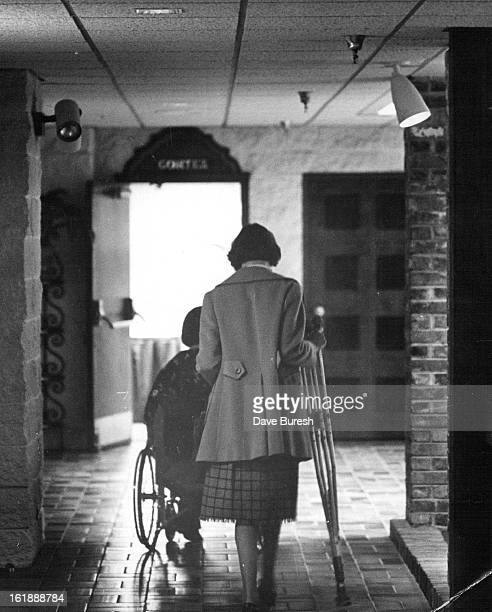 OCT 30 1981 NOV 8 1981 Wheel chair bound Marlene Harmon and Judy McBride attended the conference