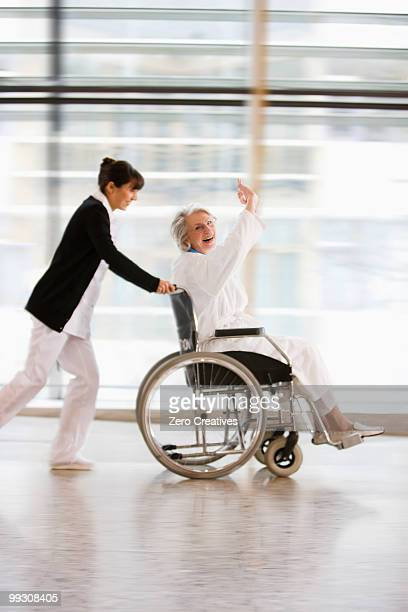 Wheel chair race