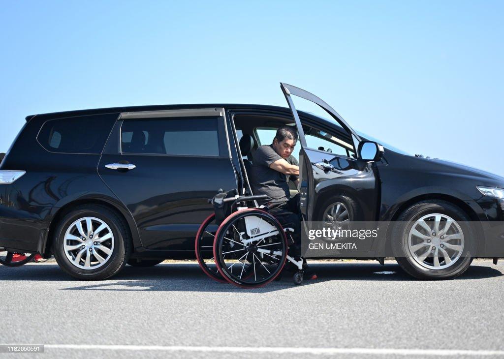 Wheel Chair Racer : ストックフォト
