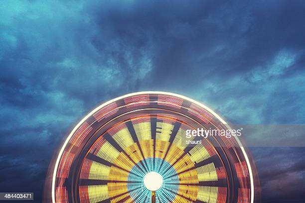 wheel in the sky - midway stock photos and pictures