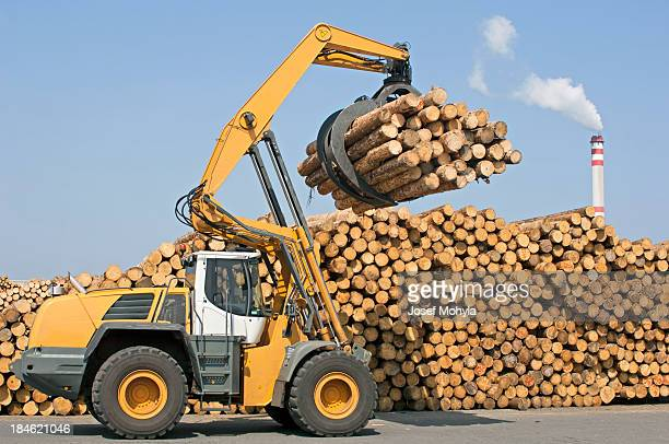 Wheel ローダー-木材産業