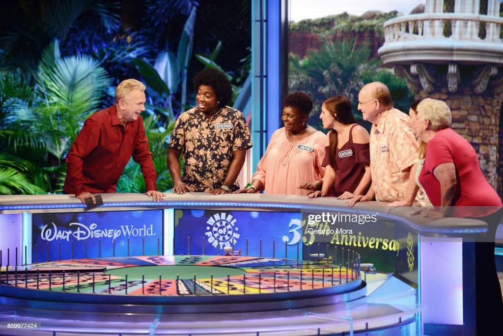 """Wheel Of Fortune"" Celebrates 35th Anniversary Of Disney's Epcot Center : News Photo"