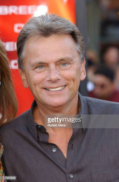 'Wheel of Fortune' host Pat Sajak attends the premiere of 'XXX' at the Mann Village and Bruin Theatres on August 5 2002 in Westwood California The...