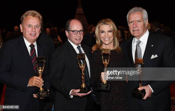 'Wheel of Fortune' host Pat Sajak 'Wheel of Fortune' and 'Jeopardy' executive producer Harry Friedman 'Wheel of Fortune' hostess Vanna White and...