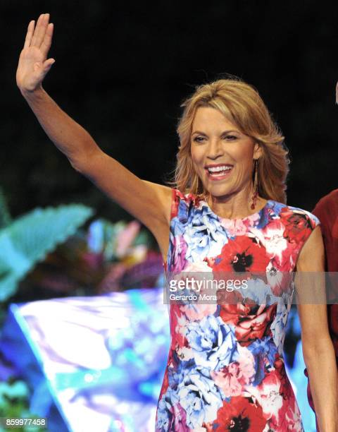 'Wheel of Fortune' host Vanna White attends a taping of the Wheel of Fortune's 35th Anniversary Season at Epcot Center at Walt Disney World on...
