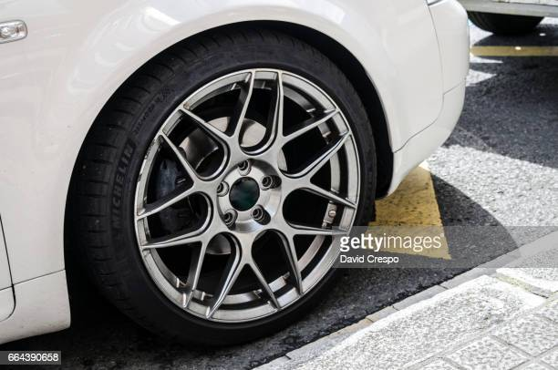 wheel - pimped car stock photos and pictures