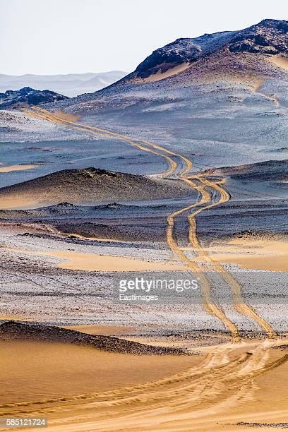 Wheel track in Gobi/Xinjiang,China.