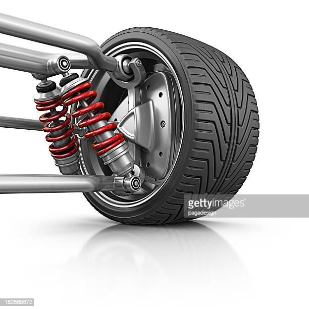 wheel with suspension - suspension bridge stock photos and pictures