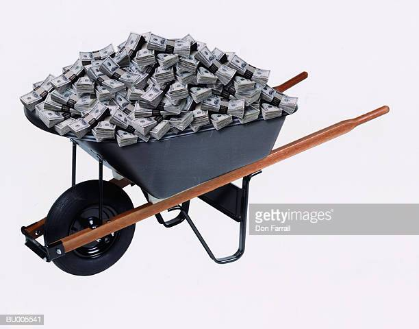 Wheelbarrow Full of American Dollars