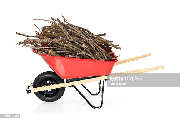 Wheelbarrow Full of Branches