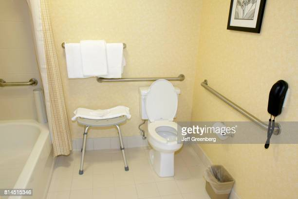 A wheelchair accessible bathroom at Residence Inn Marriott