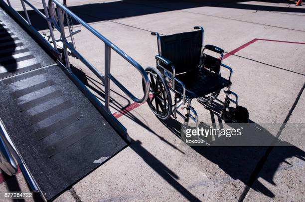wheelchair and slope. - durability stock photos and pictures